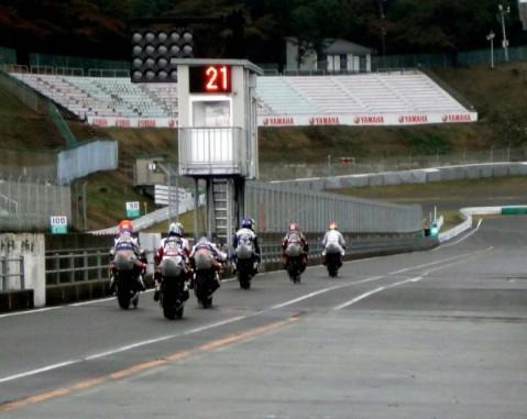 Para pembalap Yamaha Riding Academy (YRA) Indonesia di sirkuit Sugo Jepang--