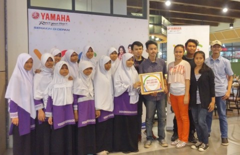 Aktivitas outdoor Charity Campaign Online Y2C (Yamaha Youth Campaign) di Jakarta (1)