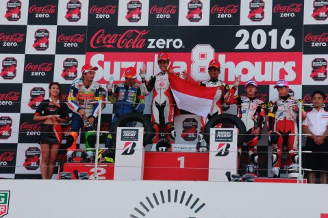 Irfan Ardiansyah dan Rheza Danica Ahrens, meraih podium tertinggi kejuaraan balap ketahanan Suzuka 4 Hours Endurance Race. Kendati baru pertama kali mengikuti kejuaraan ini, kedua pebalap binaan AHRT ini mampu mengalahkan 110 pebalap lintas negara lainnya yang mengikuti balapan ini