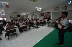 Head Group of Corcom Wahana, Taryudin berikan sambutan pada pengumuman pemenang